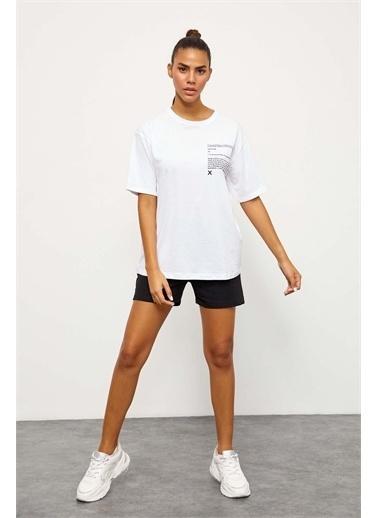 Setre Lila T-Shirt Şort Takım Siyah